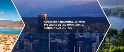 Cobertura nacional, estamos presentes en las zonas norte, centro y sur del país.