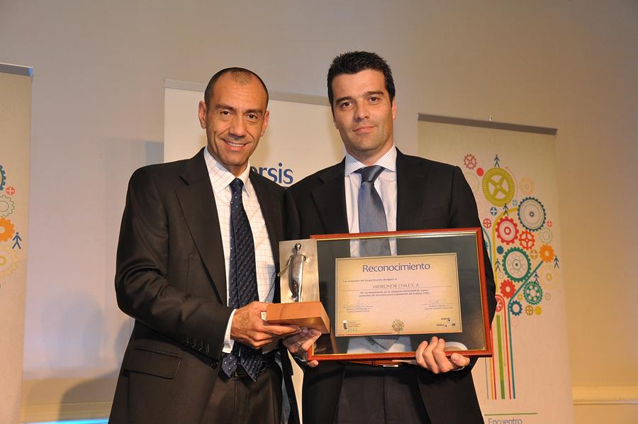 Hidronor recibe premio de excelencia por Grupo Enersis