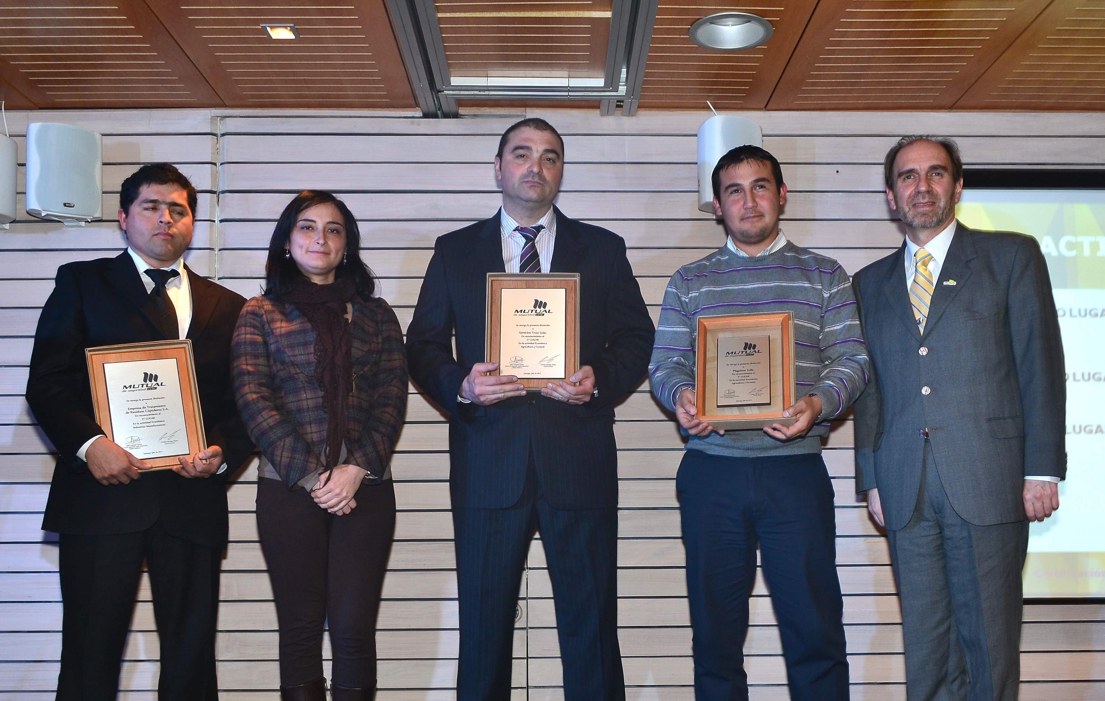 Hidronor fué premiada por la ACHS en el 2011