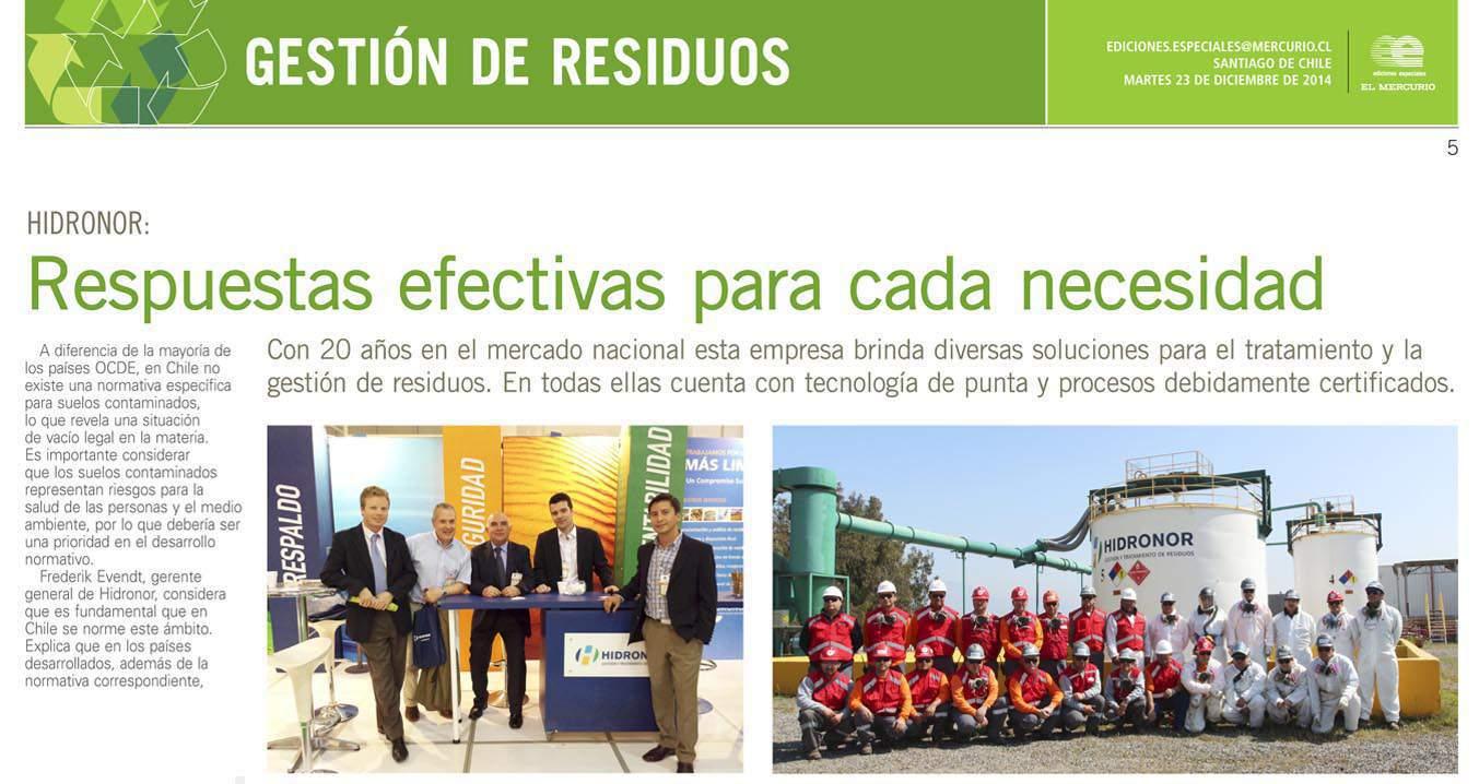 """Reportaje a Hidronor """"soluciones de tratamiento y gestión de residuos"""""""