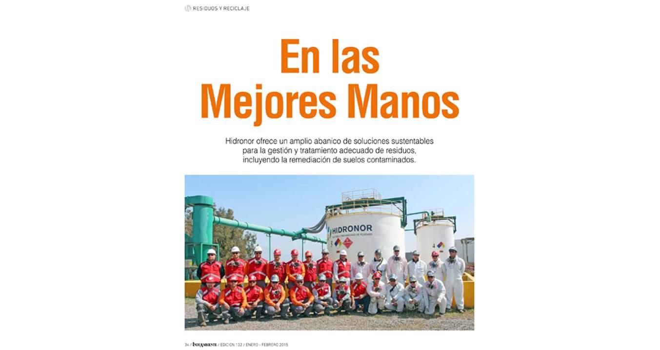 """Hidronor en Induambiente """"gestión  de residuos y suelos contaminados"""""""