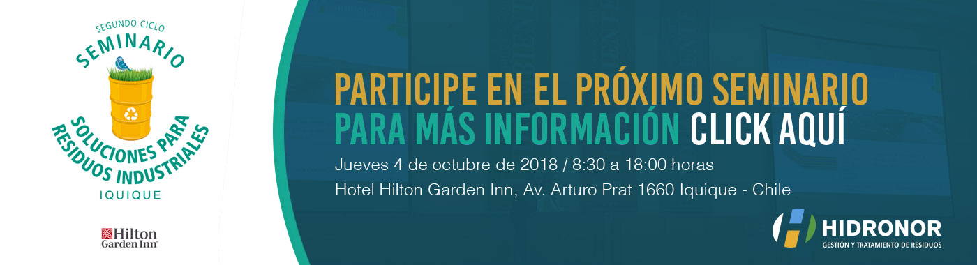 Iquique será la sede del próximo Seminario para Residuos Industriales