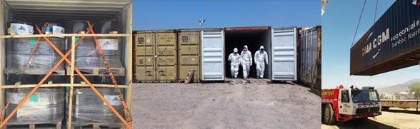 Hidronor exporta residuos peligrosos a Holanda para su incineración y disposición final