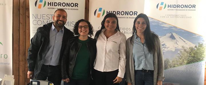 Equipo de Hidronor estuvo en la Feria de Valorización de Aceros AZA