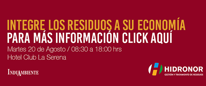 """Seminario """"Economía Circular y Residuos Industriales"""" en La Serena"""