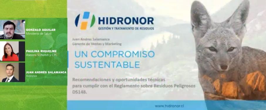 Webinar organizado por InduAmbiente e Hidronor presentó modificaciones al Reglamento Sanitario sobre el Manejo de Residuos Peligrosos DS 148/2003