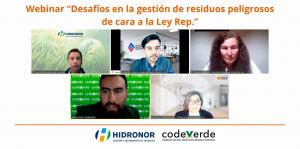 Hidronor webinar desafios ley rep gestion residuos peligrosos chile
